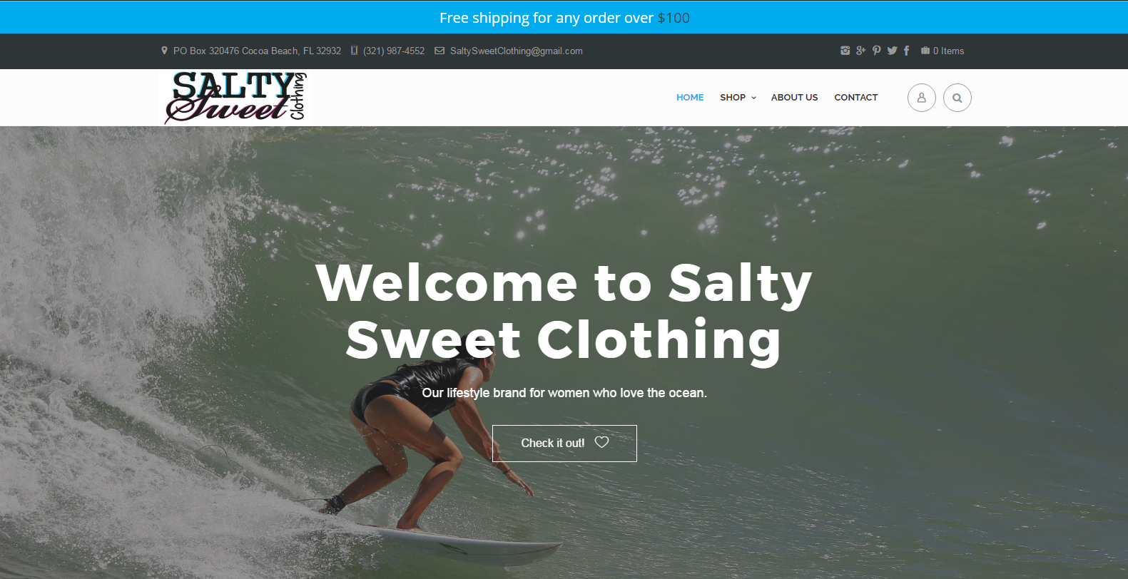 SS Clothing Web Design